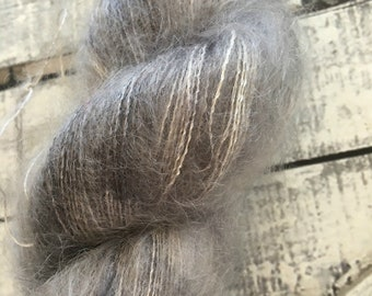Variegated Hand Dyed Yarn-TIME TRAVELER-Hairy Toad-50 gr mohair yarn-72 Kid Mohair, 28 Silk-459 yards-Toad Hollow Yarn-Indie Dyed Yarns
