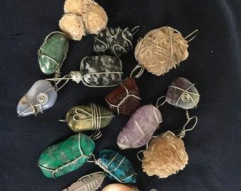 Hand wrapped pendants