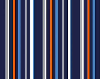 Navy Stripe Trekking Collection From Michael Miller