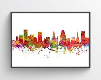 Baltimore Maryland Skyline Poster, Baltimore Cityscape, Baltimore Decor, Baltimore Art. Home Decor, Gift Idea, USMDBA08P