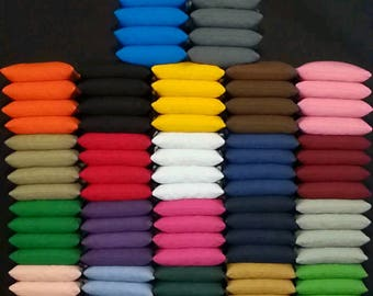 Set of 8 All Weather Cornhole Bean Bags Pick Your 2 Colors FREE SHIPPING