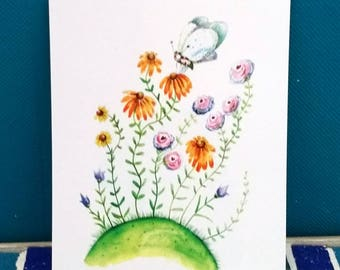 Flower meadow. .. (1 card)