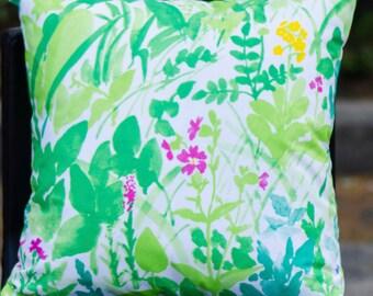 "20""x20"" Marimekko Pillow Cover. Handmade. Pattern: Kesanto by Fuji Ishimoto. (50x50cm)"