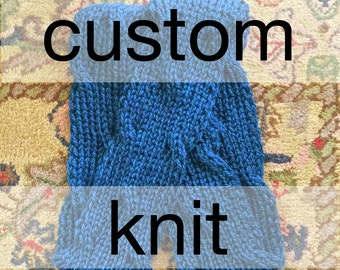 Custom Knit Infinite Wave Cowl - Hand Knit Infinity Scarf – Custom Hand Knit Cowl