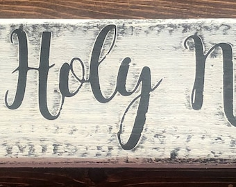 Oh Holy Night Hand-Painted Sign | Customizable!