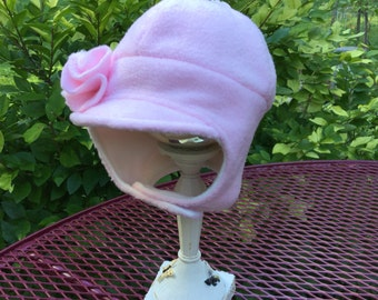 Pink girls winter hat