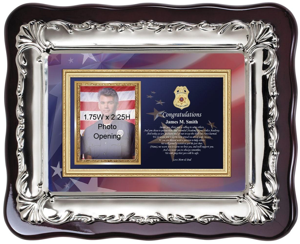 Personalisierte Sheriff Polizei Graduierung Bilderrahmen und ...
