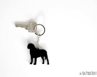 Mastiff Keychain Silhouette