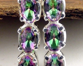 Jewelry Mystic QUARTZ, Mystic quartz, mystic quartz jewels earrings, gh6