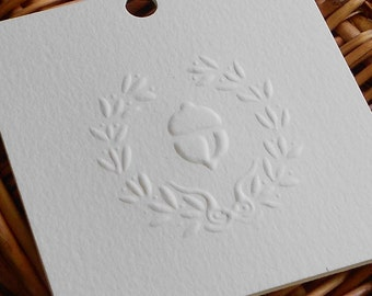 Gift Tags - Thanksgiving Gift Tags - Fall Inspired - Fall Gift Tags - Set of 10 - Embossed Autumn theme
