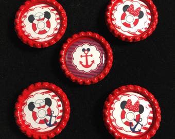 Set of 5 Disney cruise magnets-FE gift-Mickey and Minnie Magnets-Fish extender gifts-Disney FE gifts