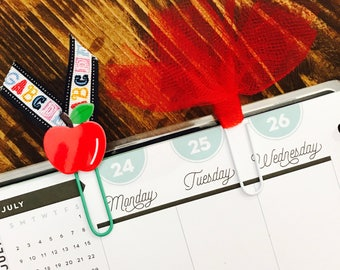 Apple and Tulle Paperclips