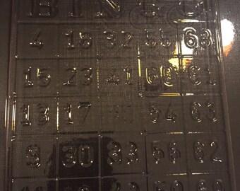 Bingo card chocolate piece