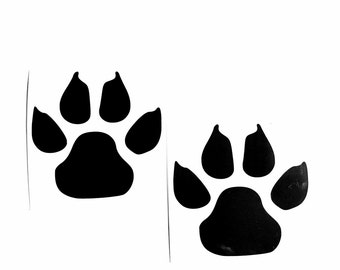 2 DIY Cat Paw Prints Vinyl Decal. Cat Lover, Laptop decal, iPad Decal, Cell Phone, Car Window Decal, Drinkware, Glassware, Frame it