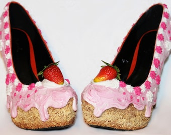 Strawberry and Cream Cake Heels