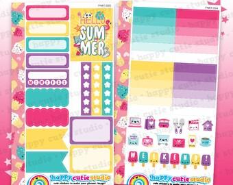 Functional Personal Size Weekly Kit 0213 Planner Stickers/Kawaii/Cute Sticker/Filofax/KikkiK/Rings/ UK