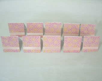 7382: Set of 10  mini note cards. gift tags. lunch box notes. Blank inside