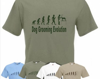 Evolution To Dog Groomer t-shirt Funny Dog grooming T-shirt sizes Sm TO 2XXL