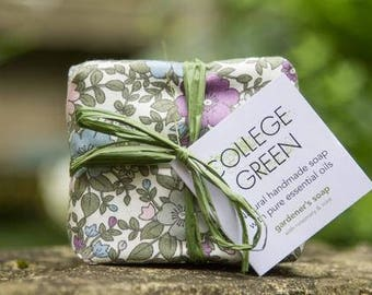 Natural gardener's soap with peppermint & rosemary