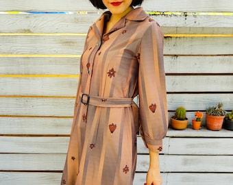 Vintage Dress, 1980s Dress, Vintage Japanese Dress, Vintage Womens Dress, Summer Dress, Boho Dress, 80s Dress, Polka Dot Dress, Floral Dress