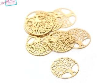"""prints 10/candlesticks d13 """"tree of life"""" 20 mm, gold"""