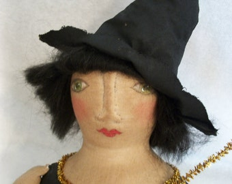 PATTERN for Primitive doll , 23 inch witch,  by Dumplinragamuffin#111