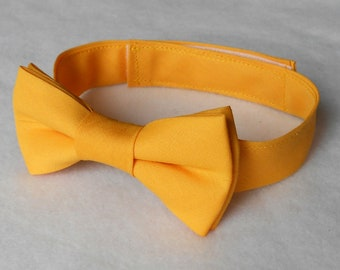 Mustard Yellow Bowtie - Infant, Toddler, Boy 2 weeks before shipping