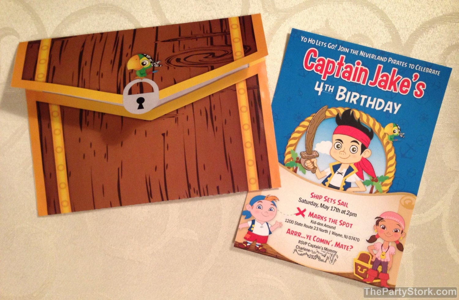 Outstanding Jake And The Neverland Pirates Birthday Invitations
