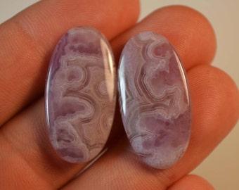 Purple Crazy Lace Agate pair..designer cabochons