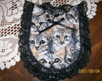 Soap Bottle Apron - Gray Cats