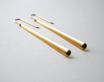 Sexy Long Dangle Earrings. Skinny Gold Drop Earrings. Minimal and Modern Jewelry. Long Drops. Everyday Jewelry. FREE Shipping in US