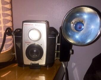1960 Kodak Brownie Reflex 20 Canera with Flash