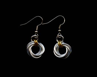 Mobius Chainmail Earrings