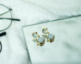 Moon_Night Crystal Earrings (2color)
