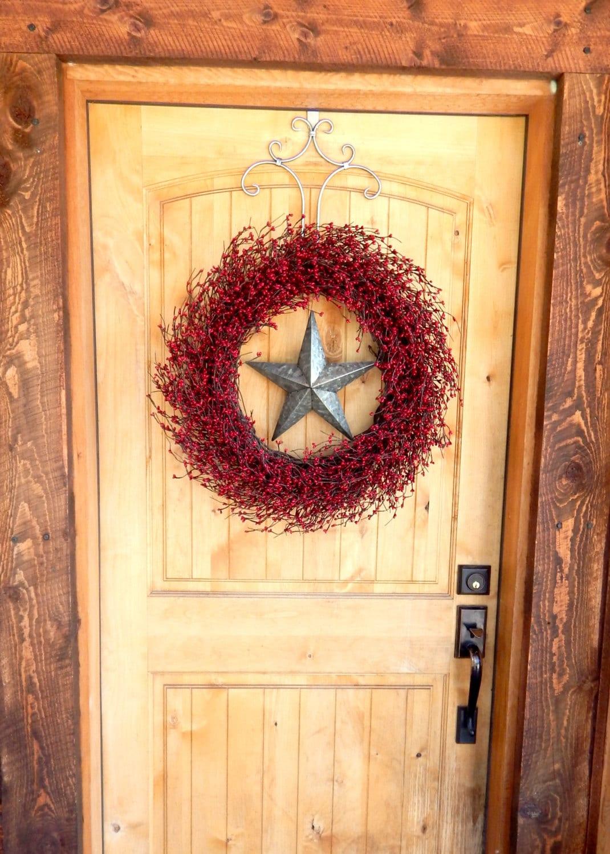 Texas Star Wreath-Winter Wreath-Rustic Christmas
