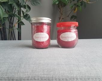 Pomegranate 8 oz Soy Candle, Mason Jar Candle, Pomegranate Candle, Summer Candle, Fruit Candle, Soy candle