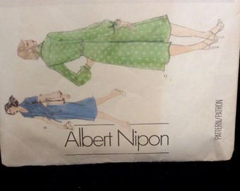 Vintage Vogue Sewing Pattern UNCUT no. 1658 Dress Sz 12 Albert Nipon