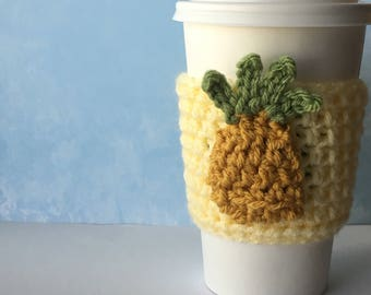 Pineapple Drink Cozy On Yellow
