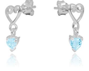 Sky Blue Topaz Sterling Silver Stud Earrings