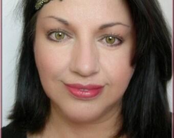 Headband-Headband-headband, black, ochre - trimmings embroidery beads - weddings, cocktail parties, Ceremonies