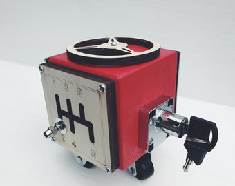 Gift for Kids - Busy Cube Red - Boy Toddler - 1st Birthday Gift - Fine Motor Skills - Montessori Toys - Kids Toys