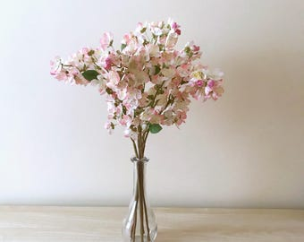 Silk Cherry Flowers, Artificial cherries, Cherry blossoms, Cherries, Artificial flowers, Faux flowers, Spring decor