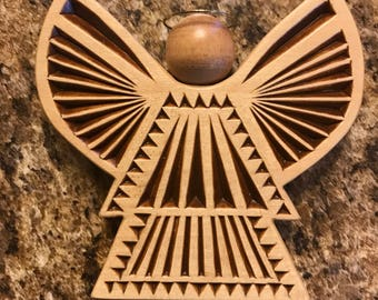 Chipped Wooden Angel