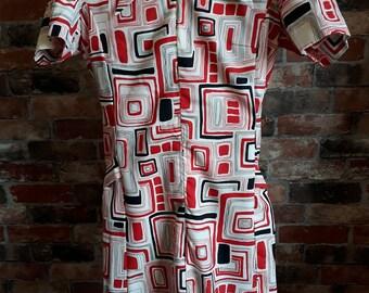 1960s Vintage Scooter Dress Size 8 UK