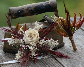 Fall Chili Pepper Corsage and / or Boutonniere