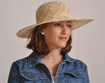 wide brim straw hat for women/ summer hat for ladies/ sun protection hat/ beach hat/ elegant sun hat