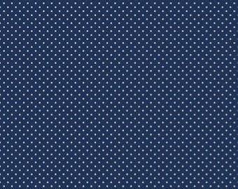 1 Yard- Navy Swiss Dot by Riley Blake Designs- 670-21