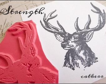 Cat Kerr Strength Foam Mounted Stamp