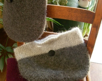 Felted wool tote