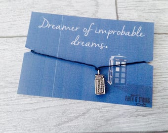 Doctor Who gift Doctor Who inspired Dr Who Friendship Bracelet Best Friend Gift